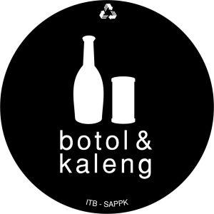 stiker label tempat sampah botol dan kaleng